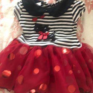 Classy red baby dress